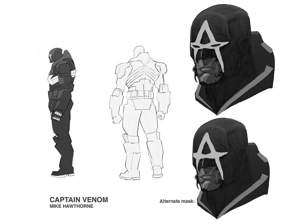 Капитан Америка + Веном = Капитан Веном, ионвыглядит очень круто