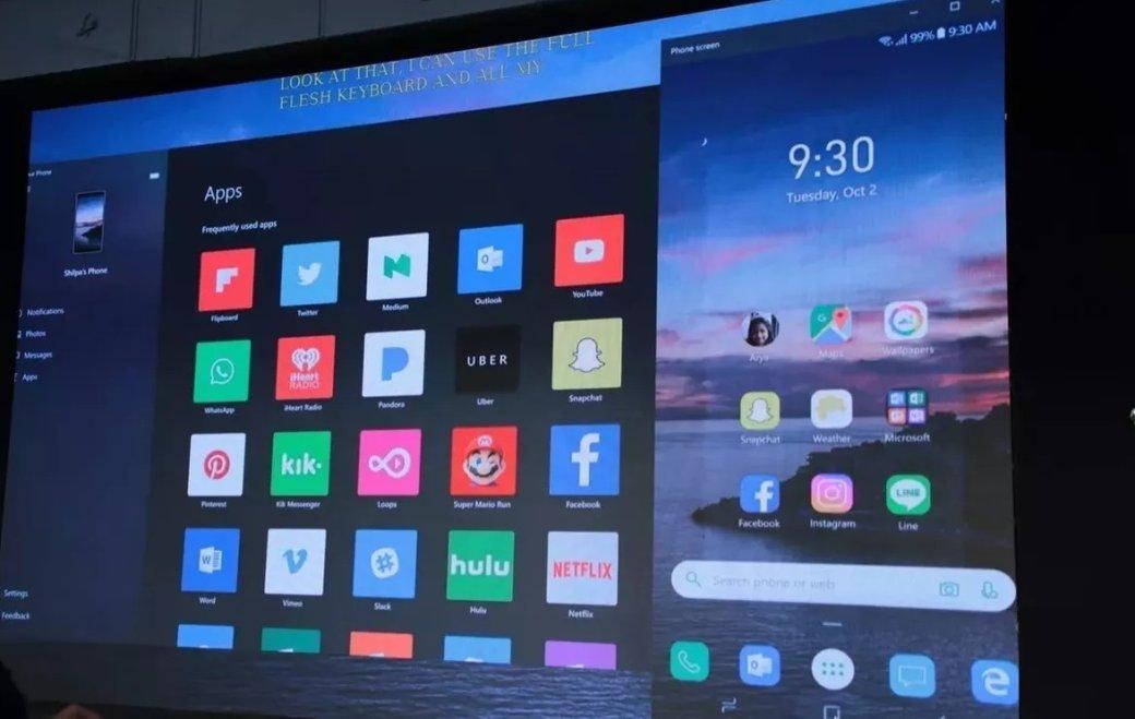Windows 10научили транслировать Android-приложения