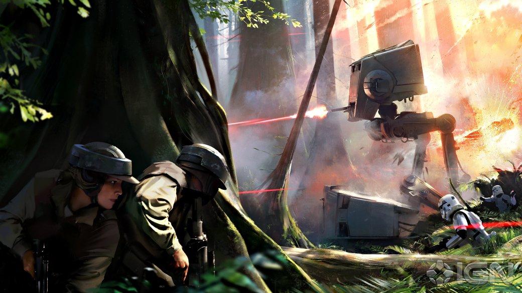 Планету Эндор запечатлели на новом арте Star Wars Battlefront