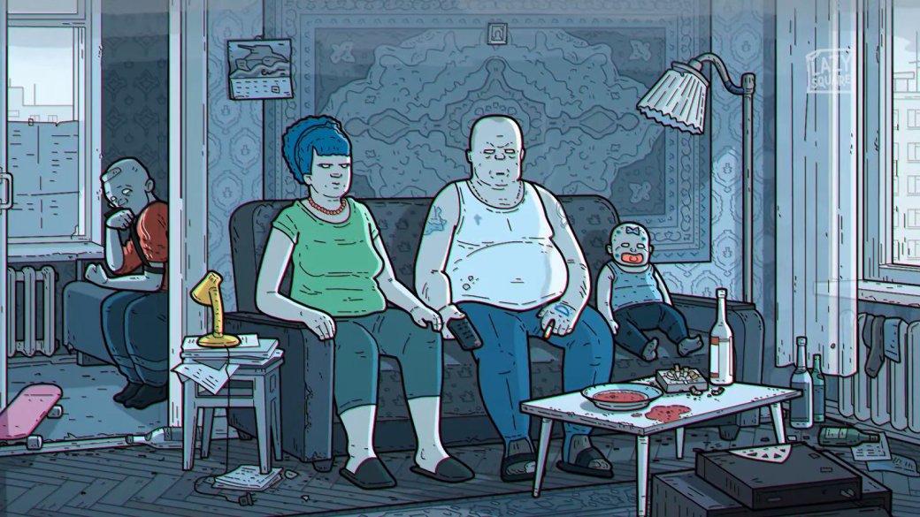 Какбы выглядела заставка русских «Симпсонов»? Весьма депрессивно