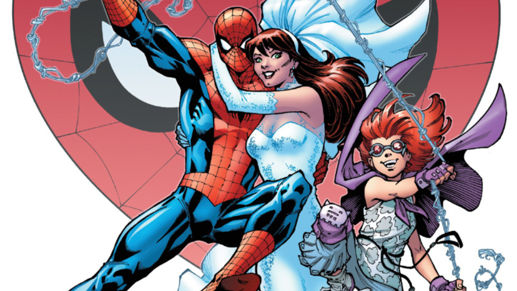 Одной изсамых интересных частей Spider-Geddon оказалась мини-серия Spider-Girls, вкоторой встретились две дочери Человека-паука изальтернативных миров— Энни Паркер сЗемли-18119 иМэй Паркер сЗемли-982. Вчесть этого приглашенный автор Алексей Першин решил вспомнить комикс Amazing Spider-Man: Renew Your Vows, вкотором издательство Marvel решилось наодин изсвоих самых смелых экспериментов последнихлет.