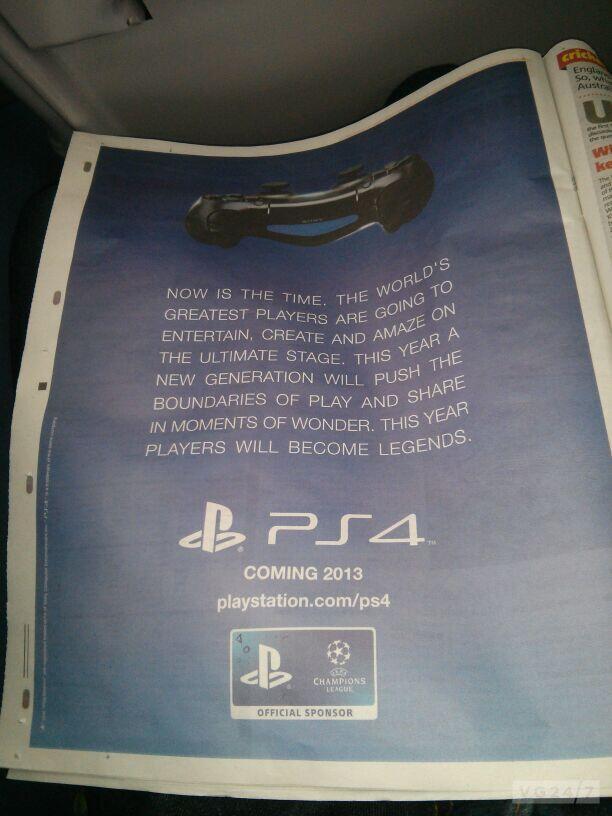 Британский таблоид раскрыл дату европейского релиза PlayStation 4