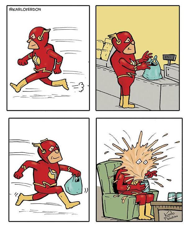 Что делают супергерои, когда неспасаютмир? Галерея пародийных комиксов