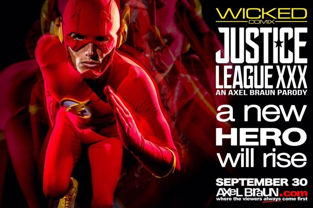 Новые постеры порно по«Лиге справедливости»: наэтот раз Бэтмен иФлэш