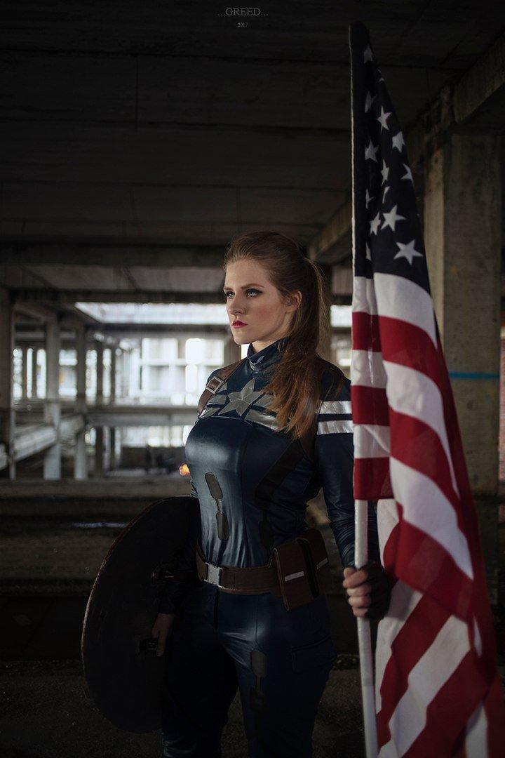 Косплей дня: Что если бы Капитан Америка был женщиной?