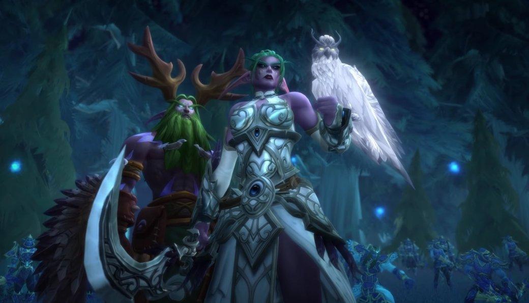 У ночных эльфов в World of Warcraft есть черная прическа. Но почему-то только у охотников на демонов