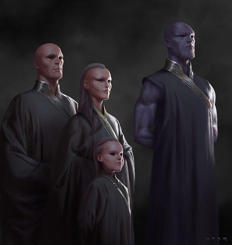 В интернете появился концепт-арт «Мстителей: Финал». На нем изображен молодой Танос!