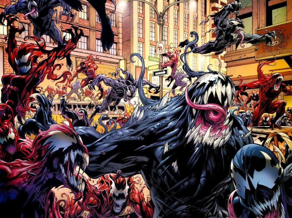 Август для фанатов Marvelначинается сновым глобальным событием под названием Absolute Carnage. Кровожадный серийный убийца начинает охоту навсех, кто когда-либо взаимодействовал ссимбиотами. Наего пути будут все— отЧеловека-паука иМстителей доЭдди Брока инекоторых суперзлодеев. Ниже— галерея потенциальных жертв Карнажа.