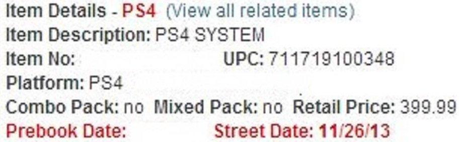 Стала известна дата релиза PlayStation 4