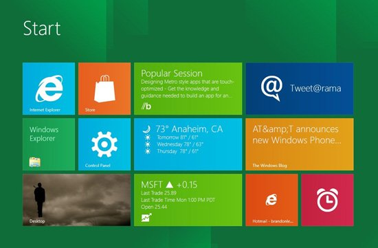 Windows 8 выйдет осенью