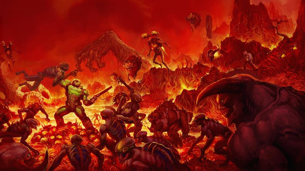Продолжаем нашу рубрику оживых впечатлениях отмасштабных настольных игр ипробуем Doom 2016 года. Игра рассказывает, как намарсианском объекте А113 Объединенная Аэрокосмическая Корпорация обнаружила пробоину. Всему персоналу рекомендуется начать срочную эвакуацию, пока его неодолели демоны, ведомые игроком. Роль потустороннего лорда принял насебя Игорь Кислицын.