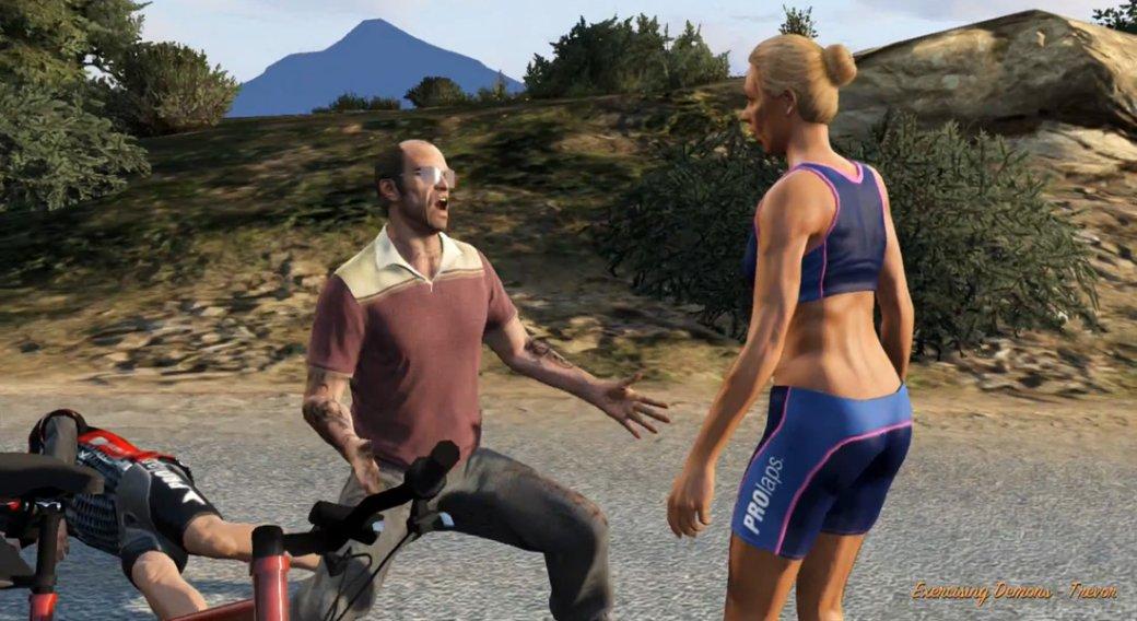Гифка дня: взрывные бега вGrand Theft Auto 5. Ажпятки горят!