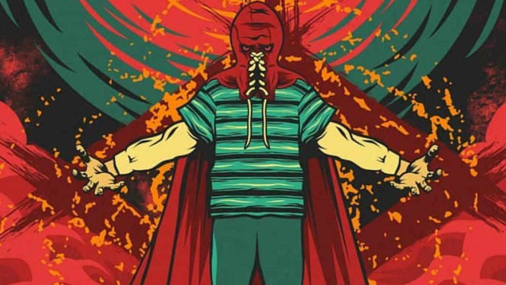 Рекламная кампания секретного проекта студии Sony иДжеймса Ганна началась прошлым летом, когда незадолго доначала San Diego Comic-Con всети появилось фото таинственного символа. Одни увидели внем знак изпопулярнейшей манги Berserk, другие видели этот рисунок вшедевральном комиксе Гранта Моррисона Nameless, который очень нравится Ганну.