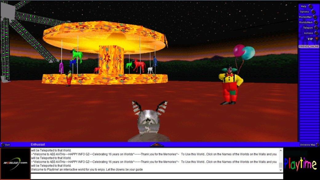 Сыгралибы? Worlds.com— древний 3D-чат, вкотором творится жуткая дичь