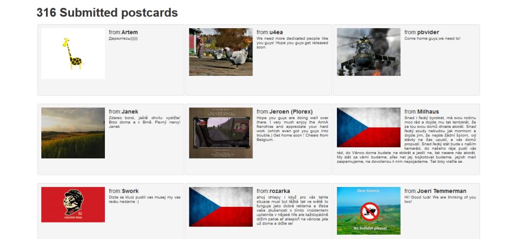 Арестованным в Греции разработчикам ArmA 3 пошлют открытки