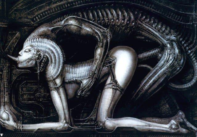 Галерея самых жутких артов Гигера. Страсть, секс истрах