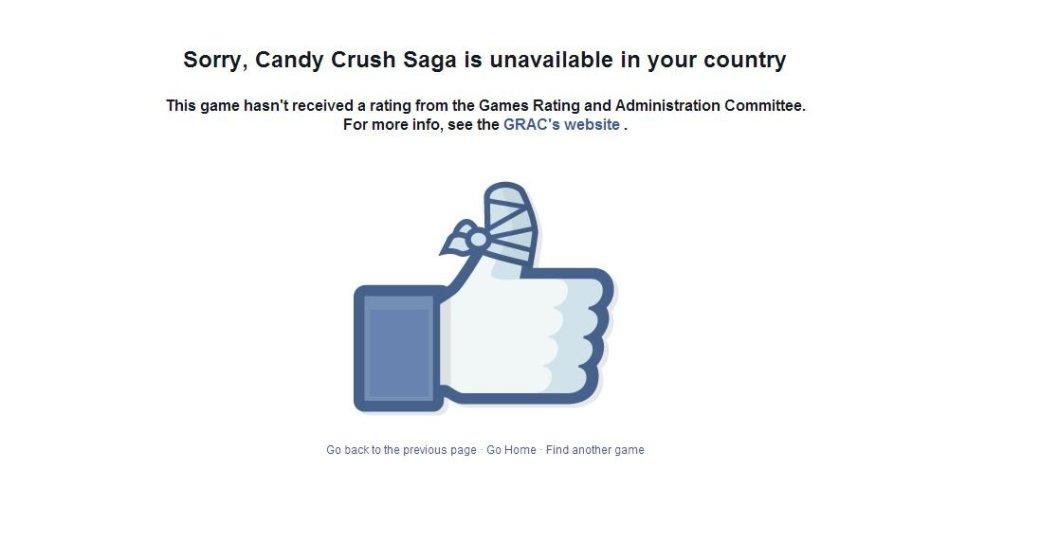 В Южной Корее заблокировали все игры в Facebook