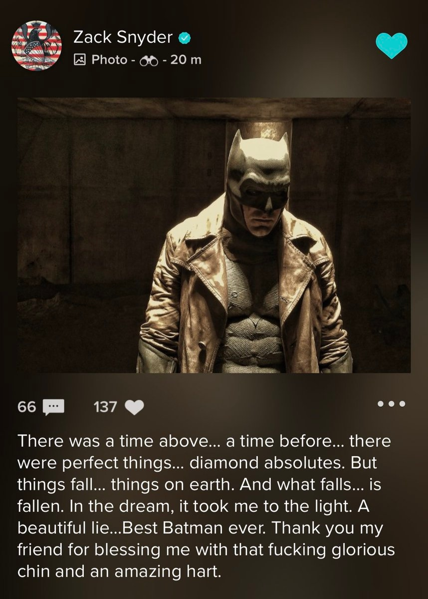 «Лучший Бэтмен»— Зак Снайдер написал пост обуходе Аффлека сроли Темного рыцаря