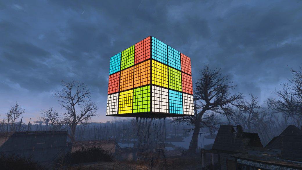 В Fallout 4 построили гигантский кубик Рубика