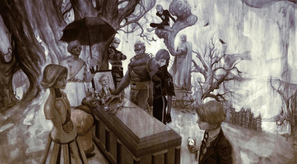 Издательство «Комильфо» предложило нам сделать обзор нового российского издания комикса «Академия Амбрелла» (предыдущее издание вышло в2015 году). Это история омире, вкотором повсей планете водну итуже минуту внезапно родилось сорок три необыкновенных ребенка, каждый изкоторых оказался наделен какими-то исключительными способностями. Семерых изних усыновил таинственный сэр Реджинальд «Монокль» Харгривз, убежденный, что этим детям предстоит спастимир. Вэтом материале мырасскажем, почему «Академия Амбрелла» достойна вашего внимания.