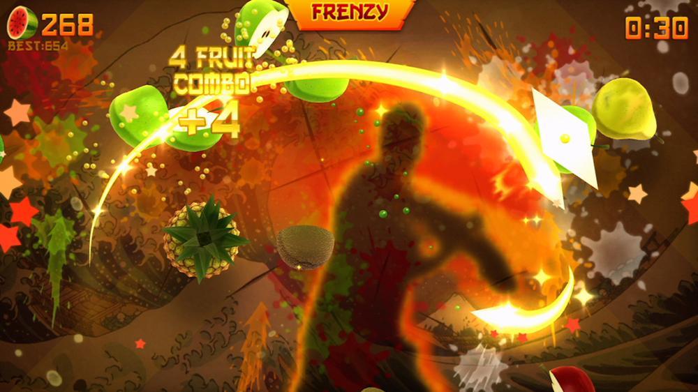 Fruit Ninja для Kinect скачали миллион раз
