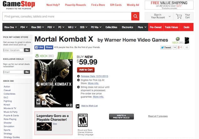 Mortal Kombat X для PS3 и Xbox 360 вновь перенесли