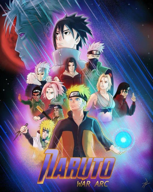 Основной постер «Мстителей: Финал» переделали под персонажей «Наруто»