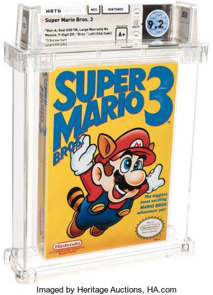 Копия Super Mario Bros 3 стала самой дорогой игрой вмире. Еекупили за12 млн рублей