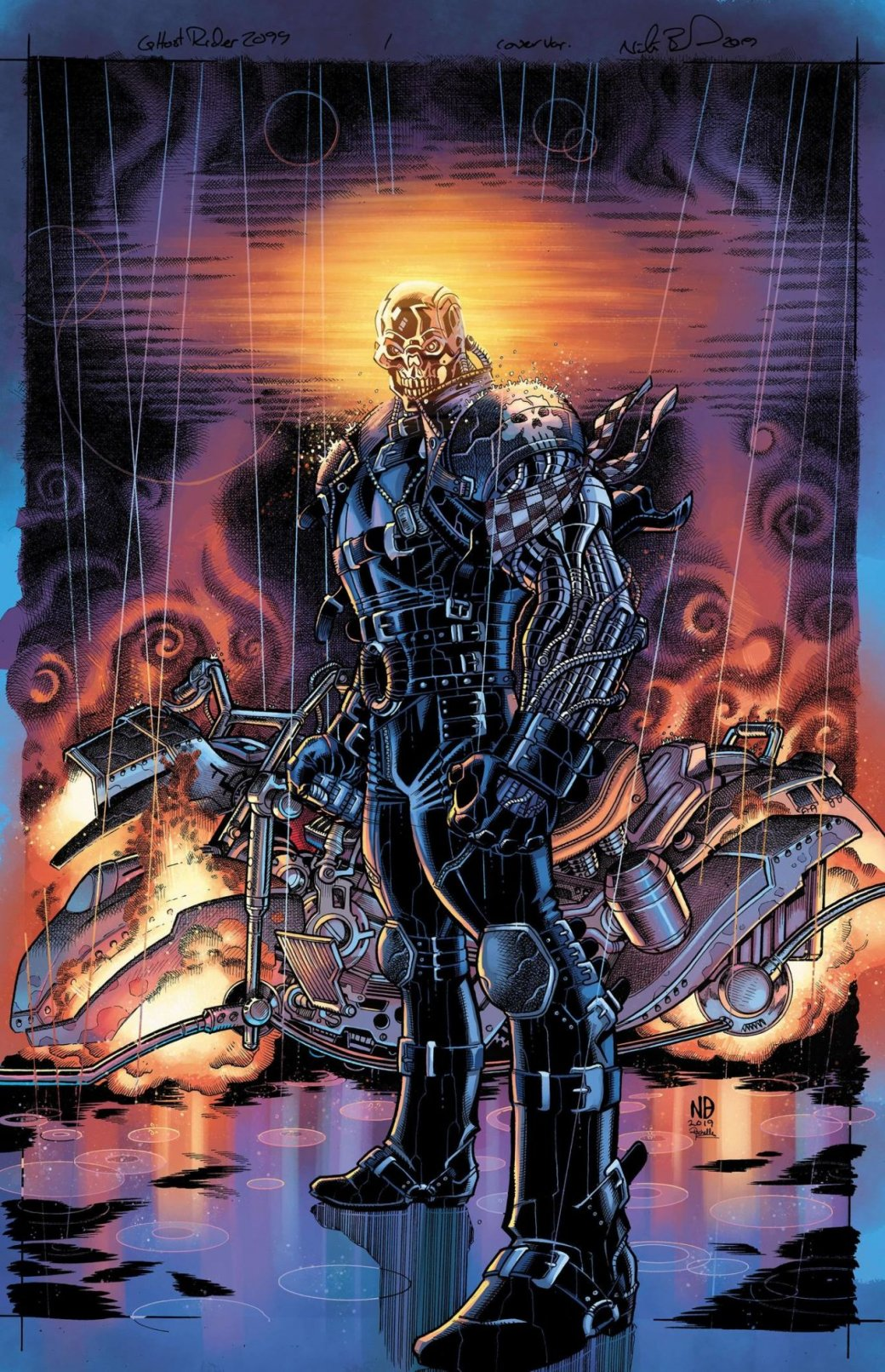 Кибернетический Локи вженском обличие иСорвиголова слазерным оружием. Новые обложки Marvel 2099