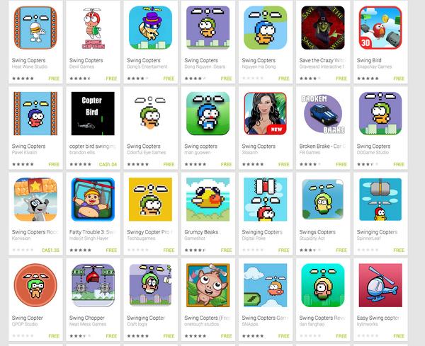 Новую игру автора Flappy Bird клонировали более 25 раз за два дня
