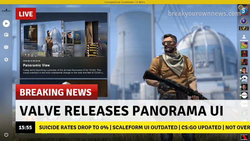 Вы только посмотрите на анимацию персонажей! Как игроки отреагировали на Panorama UI в CS:GO