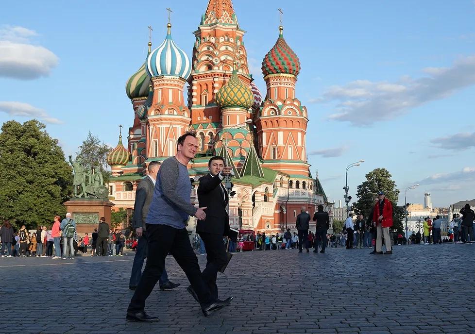 Квентин Тарантино посетил Москву! Мединский провел ему экскурсию
