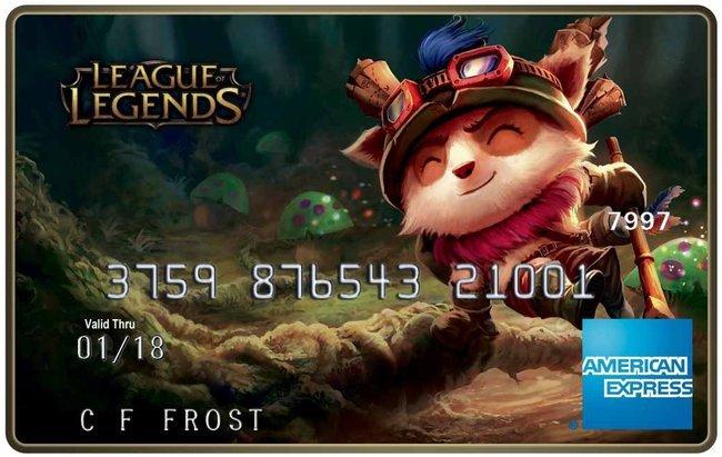 В среду будут запущены дебетовые карты League of Legends