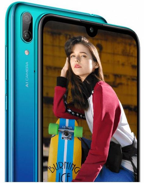 ВСети появились первые фото ихарактеристики смартфона Huawei Y7 2019