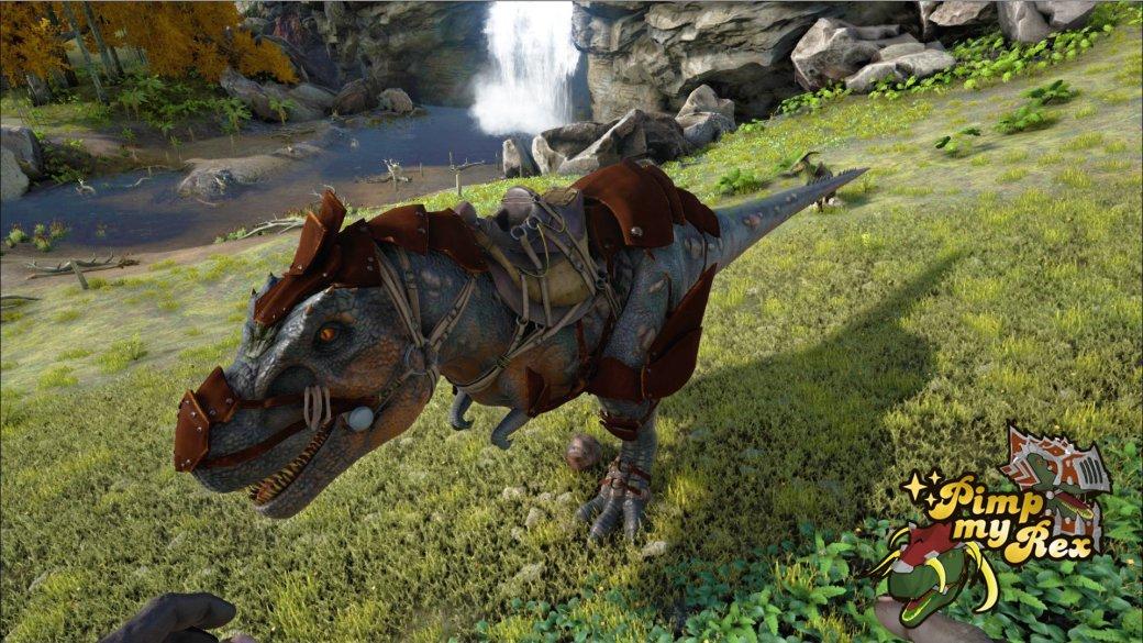 Прокаченный тирекс в Ark: Survival Evolved выглядит круто