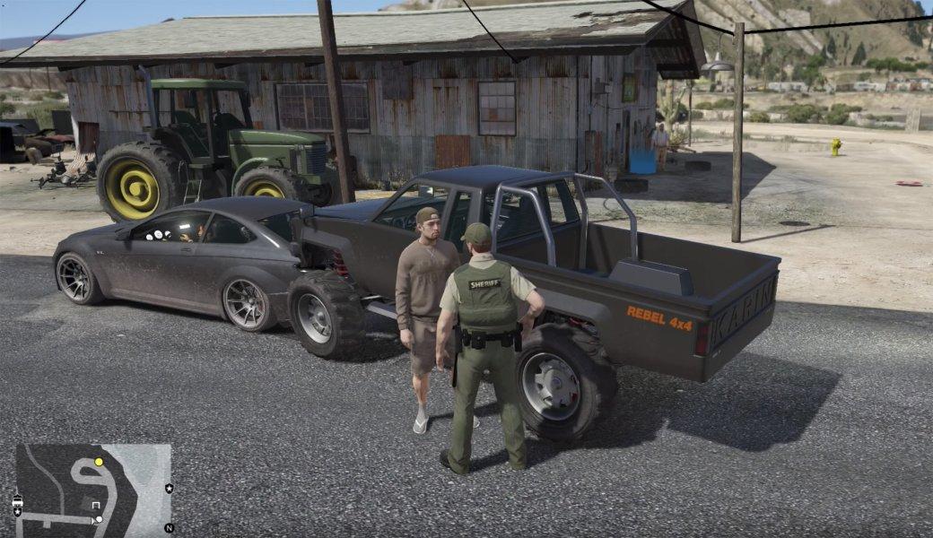 Гифка дня: проблемы при аресте вGrand Theft Auto5