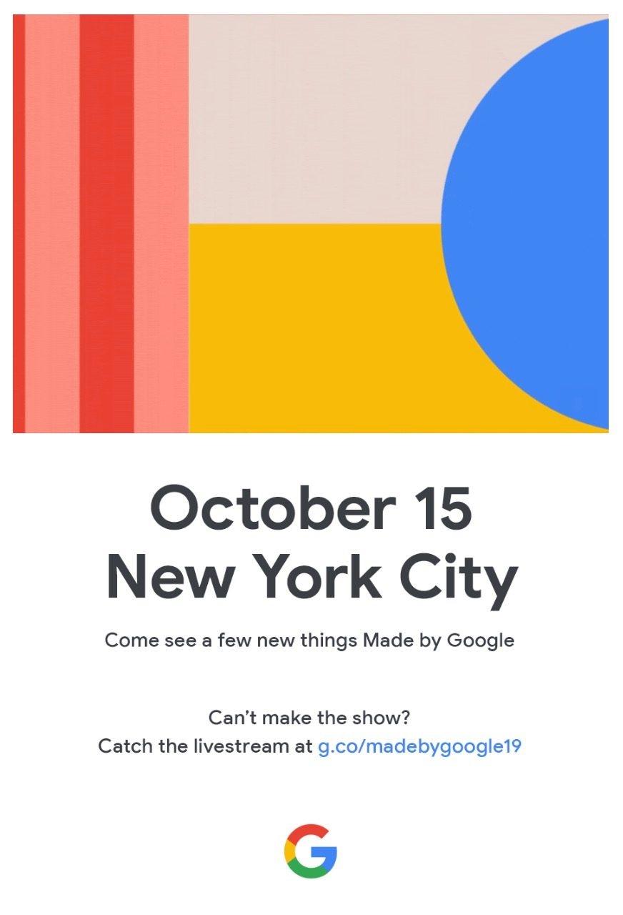 Google официально объявила дату презентации флагманов Pixel 4 идругих гаджетов