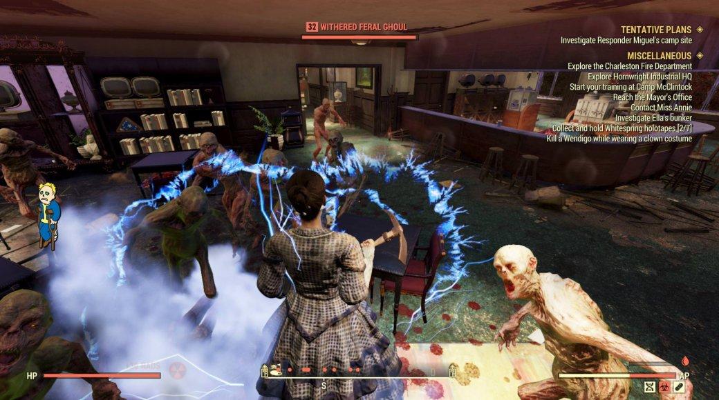 Игрок не может умереть в Fallout 76 из-за бага. И ядерный взрыв ему тоже нипочем!