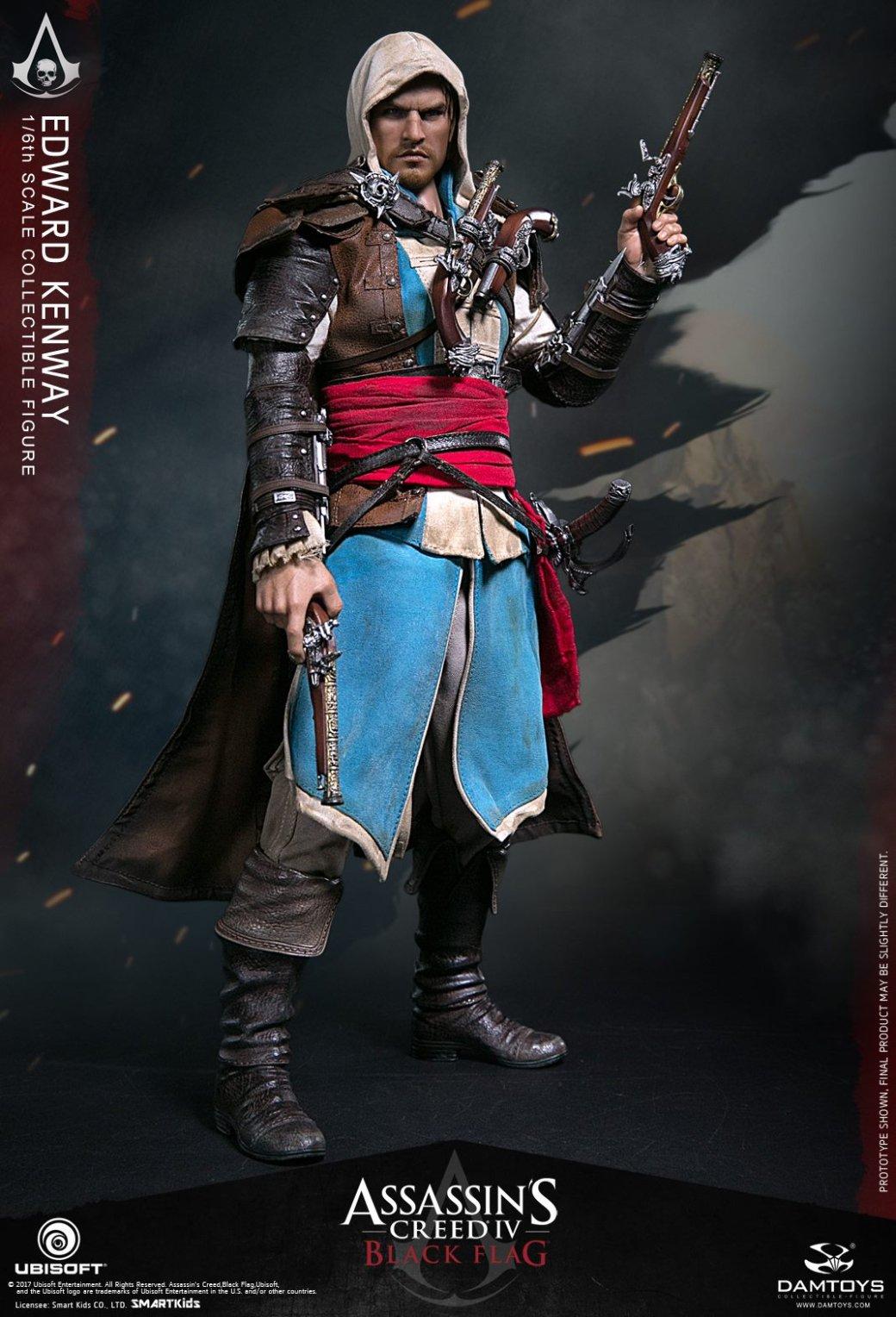 Невероятно детализированная фигурка пирата и ассассина Эдварда Кенуэя