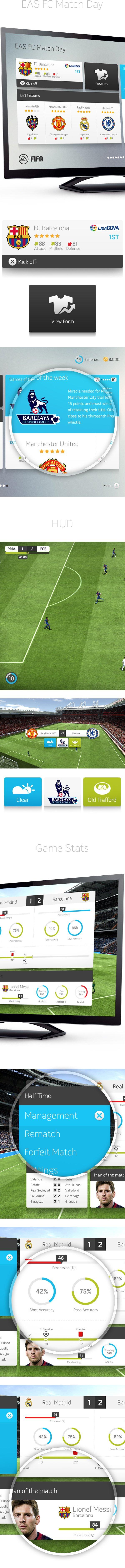 В сети появился дизайнерский прототип интерфейса FIFA