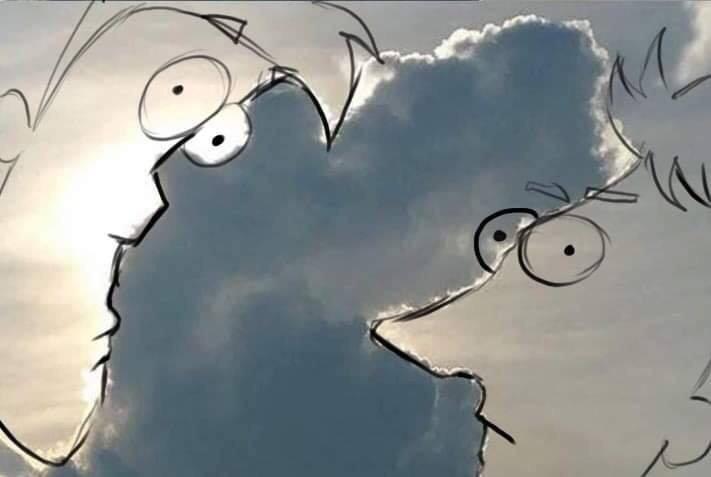 Пользователи сети разглядели в облаке образы Сайтамы и Рикардо Милоса. А что видите вы?