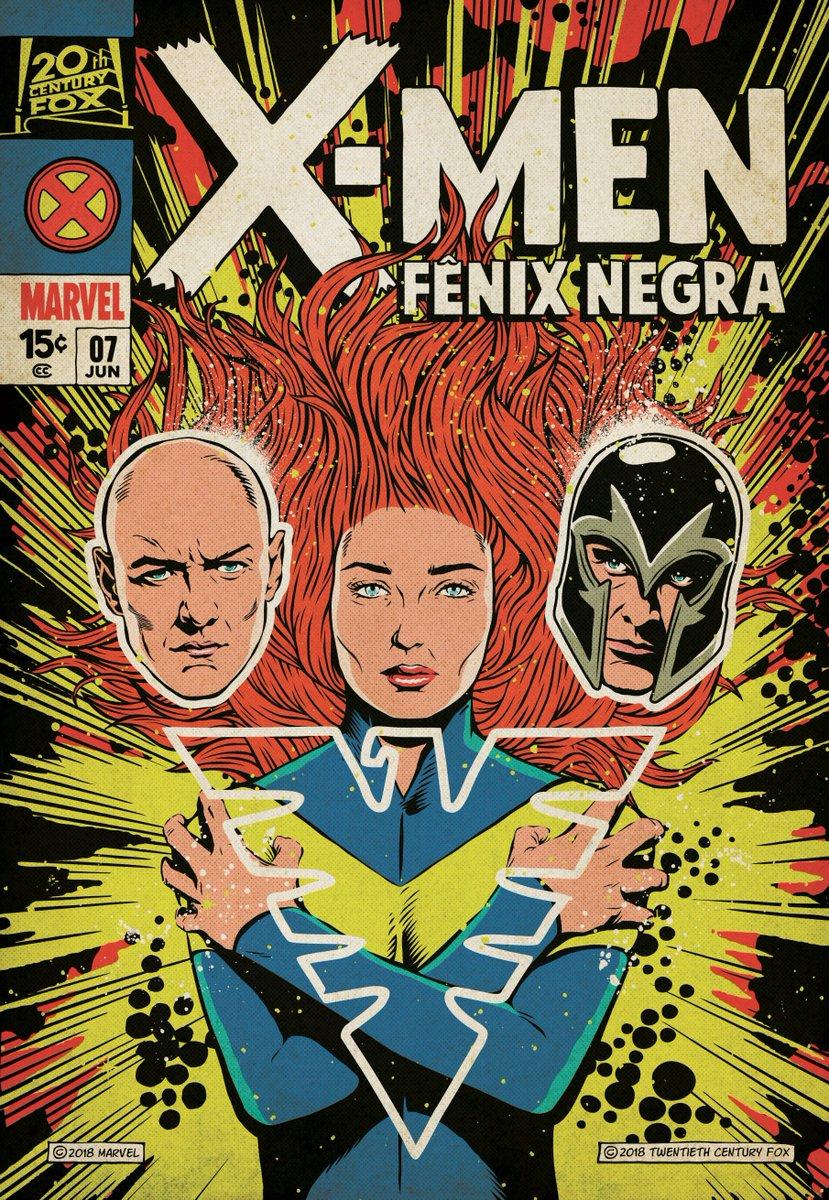 Новый постер «Темного Феникса» оформили встиле обложек комиксов