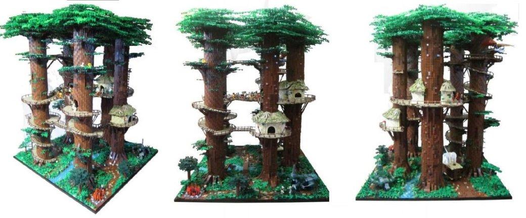 Фанат Star Wars построил собственную деревню эвоков