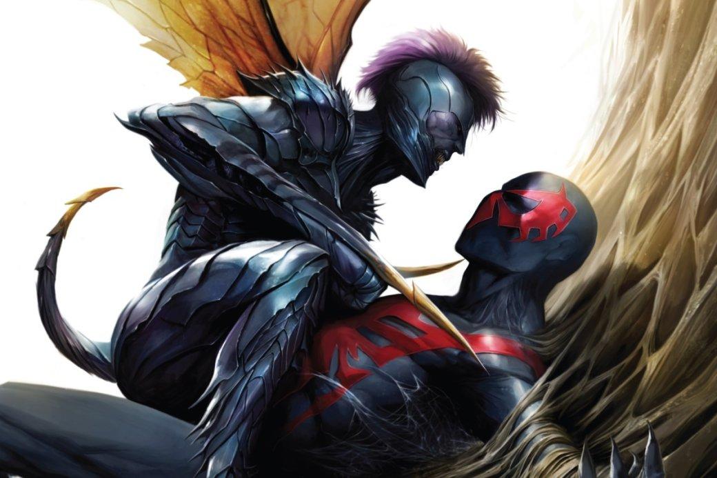 Издательство Marvel нетак давно решило вдохнуть новую жизнь вкомиксы онедалеком будущем своей вселенной. 2099 год обзаведется рядом новых историй ознакомых персонажах, которые получат обновленные воплощения вмире киберпанка, родом изкоторого герой этой статьи— Мигель О'Хара, онже Человек-паук 2099.
