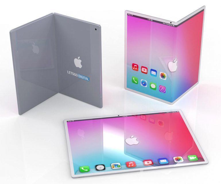 Как может выглядеть складной iPad? Первые рендеры гипотетического планшета Apple