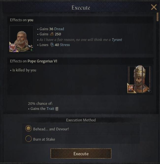 Игрок смог съесть папу римского вCrusader Kings3